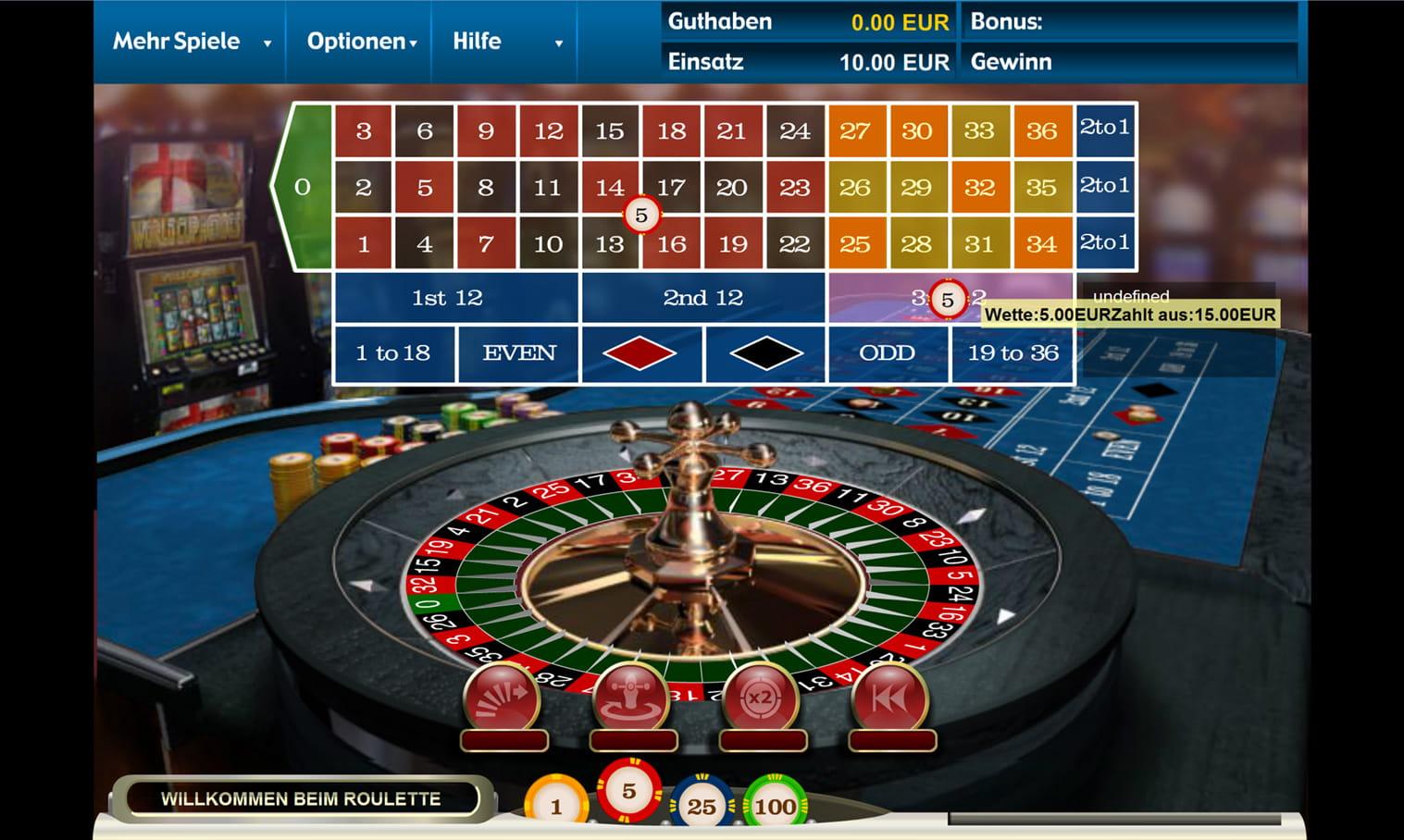 Roulette Auszahlungsquoten Spielo - 210077