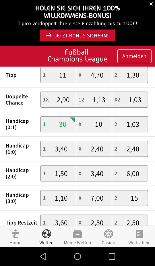 Wettquoten Europa League - 653805