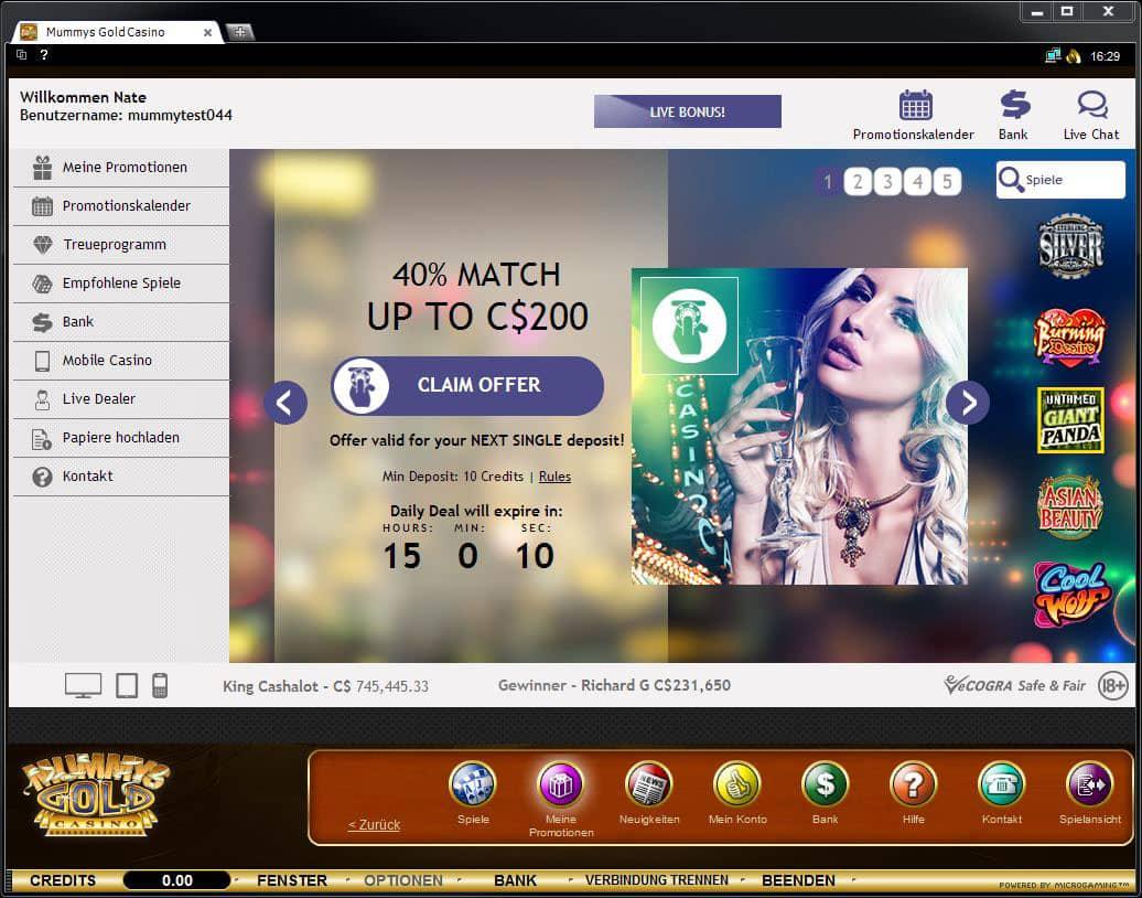 Casino mit - 16126