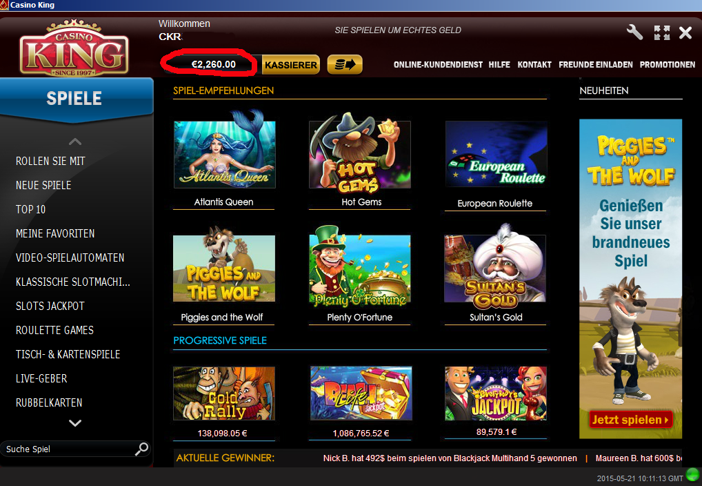 Online Casino Jackpot - 291612